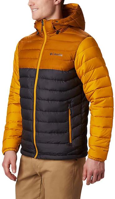 Columbia Powder Lite Hooded Jacket Herren sharkburnished amber